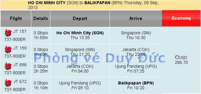 Ve May Bay Di Balikpaban Hang Lion Air 286 Usd