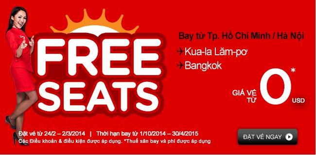 Air Asia Tung Vé Khủng đi Bangkok 0 USD