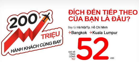 Air Asia Tung Vé Máy Bay đi Bangkok Chỉ 52 USD