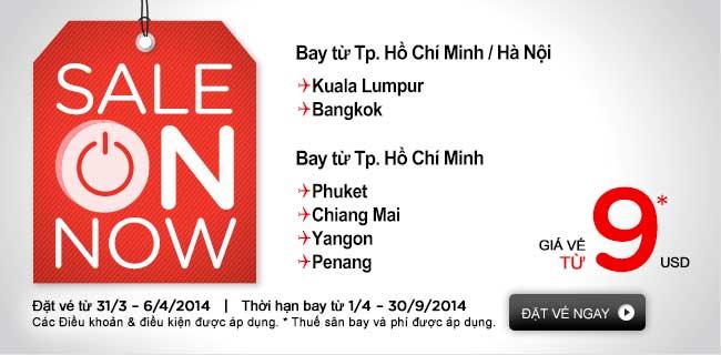 Air Asia Triển Khai Vé đi Kuala Lumpur 9 USD