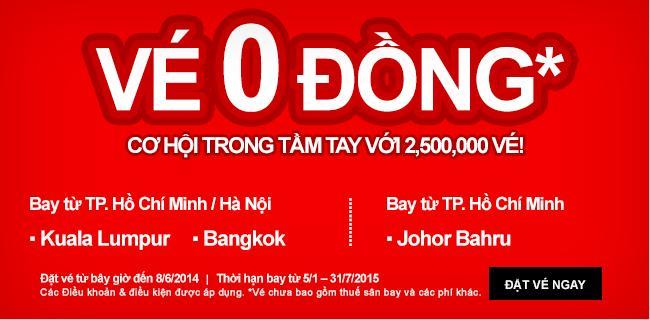 Air Asia Tung Vé Khủng Cực Sốc đi Bangkok 0 USDAir Asia Tung Vé Khủng Cực Sốc đi Bangkok 0 USD