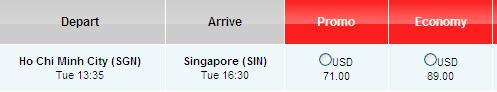 Bay đến Singapore Trong Tháng 11 Chỉ Với 71 USD