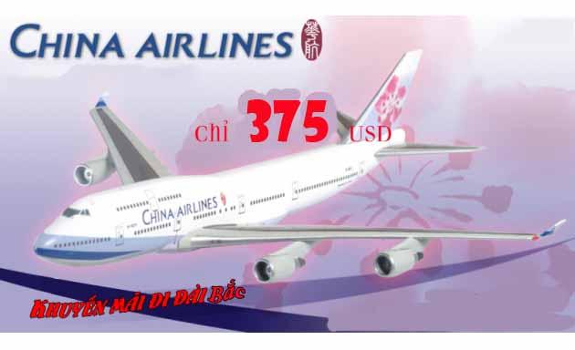 China Airlines khuyến mãi vé đi Đài Bắc 375 USD