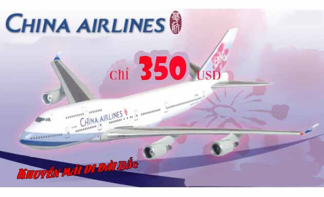 China Airlines Triển Khai Vé Khứ Hồi đi Đài Bắc 350 Usd
