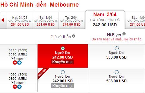 Đặt Mua Vé Rẻ đến Melbourne Hãng Air Asia 242 USD