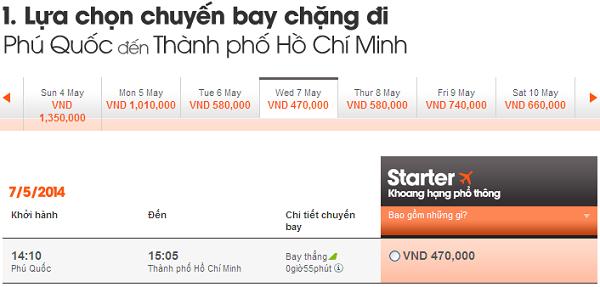 Đặt Vé Phú Quốc Về Sài Gòn Chỉ 470.000 VNĐ