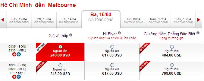 Đến Melbourne Du Lịch Giá Rẻ 240 USD