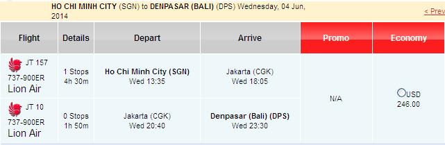Du lịch đến đảo Bali với giá rẻ 246 USD