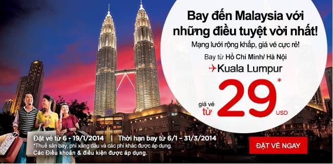 Du Lịch đến Kuala Lumpur Giá Rẻ 29 USD