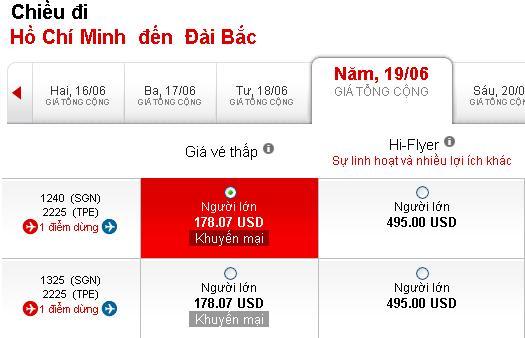 Hướng Dẫn đặt Mua Vé đi Đài Bắc 178 USD
