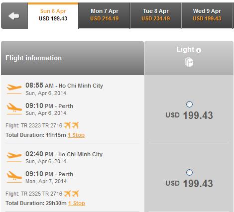 Hướng Dẫn Nhanh đặt Vé đi Perth 199 USD