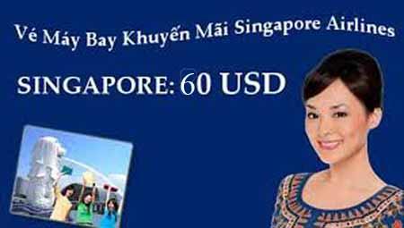 Mua Vé Du Lịch Singapore 60 USD