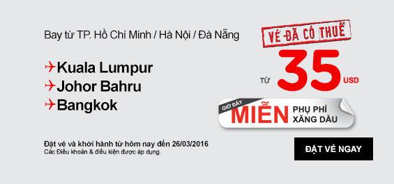 Đặt Vé Giá Rẻ Du Lịch Tết 2015 đến Bangkok 35 USD
