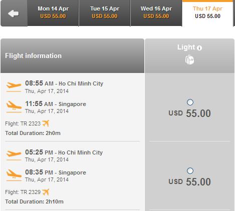 Mua Ngay Vé Máy Bay Rẻ đi Singapore 55 USD