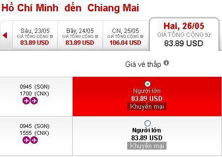 Mua Ngay Vé Rẻ đến Chiềng Mai 83 USD
