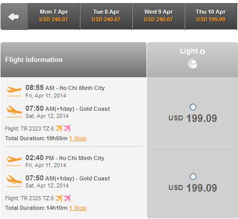Mua Vé Du Lịch đến Gold Coast Giá Rẻ 199 USD