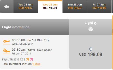 Mua Vé Giá Rẻ đến Gold Coast Chỉ Với 199 USD