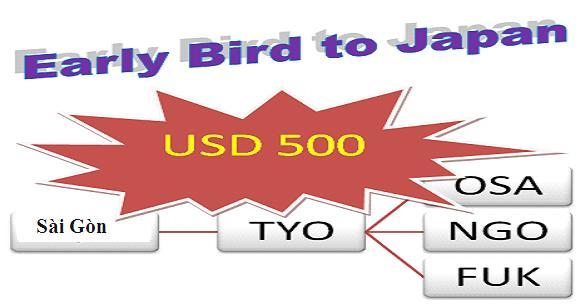 Mua Vé Khuyến Mãi đi Nhật 500 USD