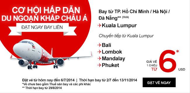 Mua Vé Rẻ Nhất đến Kuala Lumpur Chỉ 6 USD
