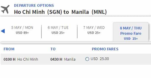 Muốn Mua Vé đi Manila 25 USD Làm Thế Nào?