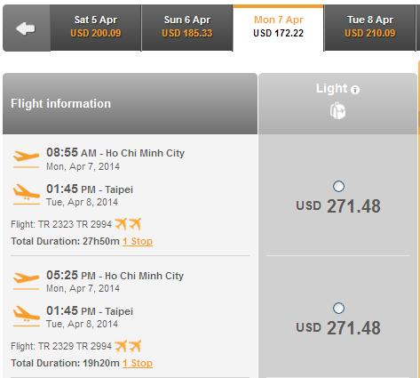 Muốn Mua Vé Rẻ đi Đài Bắc 271 USD Làm Sao?