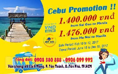 Chớp Ngay Vé Giá Rẻ đi Manila Của Cebu Pacific