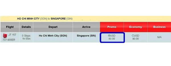 Vé Máy Bay Sài Gòn đi Singapore Của Lion Air