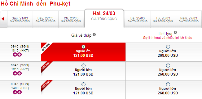 Vé Máy Bay đến Phuket Giá Rẻ 121 USD