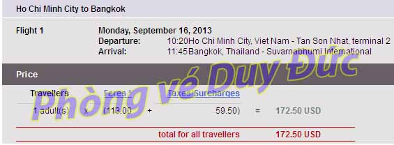 Vé Máy Bay đi Thái Lan Giá Rẻ Thai Airways