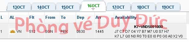 Vé Máy Bay Vietnam Airlines đi Beijing