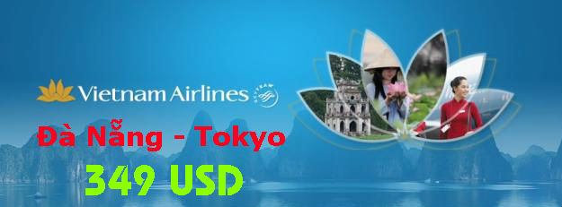 Vietnam Airlines Bán Vé Đà Nẵng đến Tokyo 349 USD
