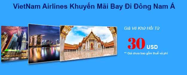 Vietnam Airlines Khuyến Mãi Vé đi Singapore 30USD